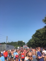 Finish line: isn't it impressive? Sea of people!