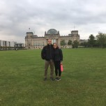 Both of us, Reichstag behind us. The area where the showers, changing tents and food were the previous day.